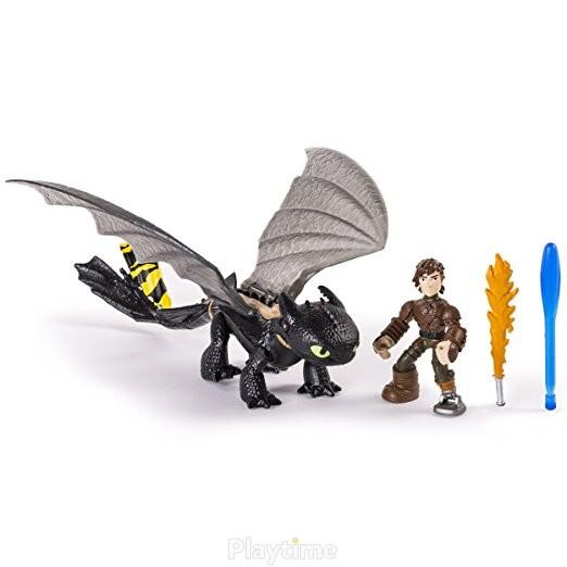 Набор Spin Master Dragons Как приручить дракона Всадник Иккинг и дракон Беззубик в новом снаряжении (SM66594-7)