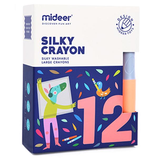 Восковые карандаши Mideer 12шт (MD4066)