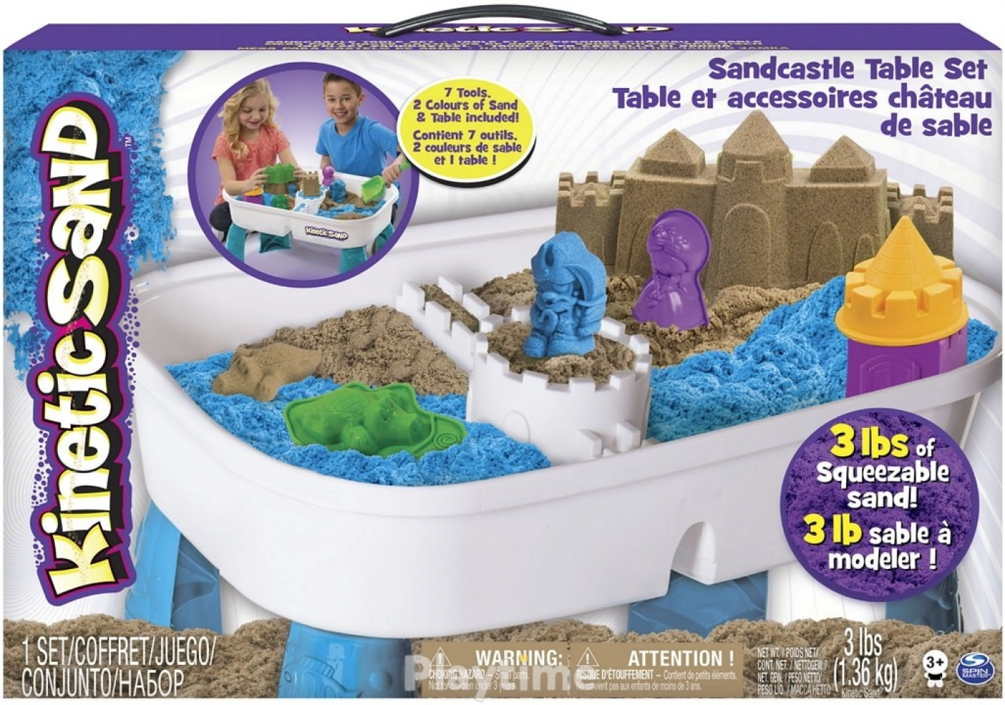 Набор песка KINETIC SAND TABLE голубой, натуральный, 1360г (71433)