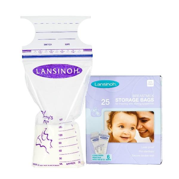 Пакеты для хранения и замораживания грудного молока  (25 шт., из полиэтилена) Lansinoh