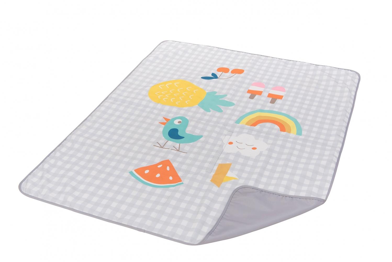 Развивающий коврик для прогулок Taf Toys ИДЕМ ГУЛЯТЬ 140х115 см, водонепроницаемый (12145)