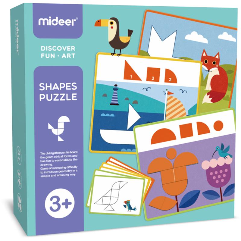 Деревянная мозаика Геоформы Mideer (MD1097)