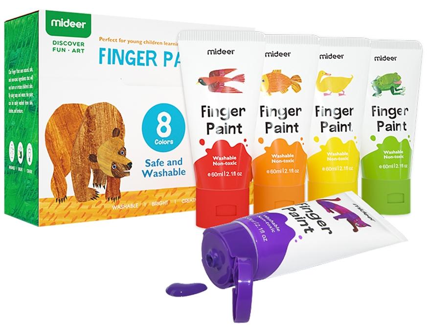 Пальчиковые краски Mideer 8 цветов (MD4110)